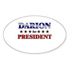 DARION for president Oval Decal