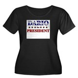 DARIO for president Women's Plus Size Scoop Neck D