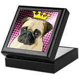 Pug Princess Keepsake Box