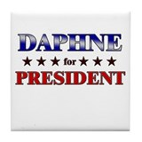 DAPHNE for president Tile Coaster