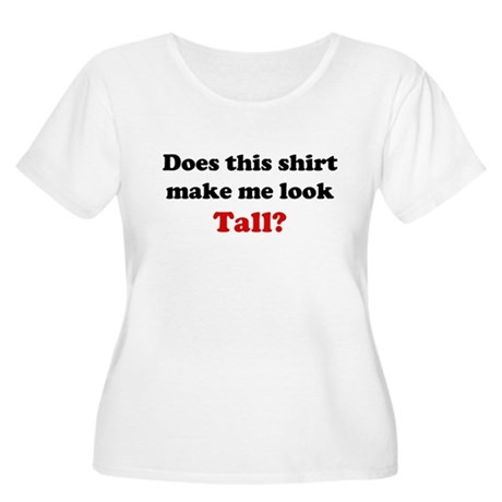Make Me Look Tall Women's Plus Size Scoop Neck T-S