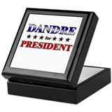 DANDRE for president Keepsake Box
