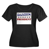 DAMIEN for president Women's Plus Size Scoop Neck