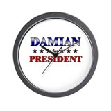 DAMIAN for president Wall Clock