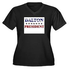 DALTON for president Women's Plus Size V-Neck Dark
