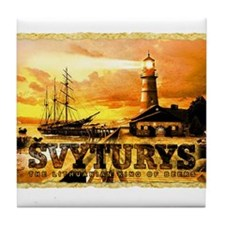 Svyturys Light House Tile Coaster
