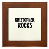 Cristopher Rocks Framed Tile