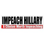Impeach Hillary Bumpersticker