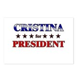 CRISTINA for president Postcards (Package of 8)