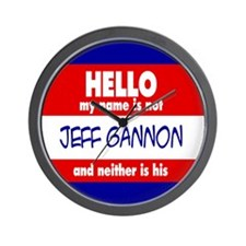 Hello... not Jeff Gannon Wall Clock
