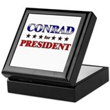 CONRAD for president Keepsake Box