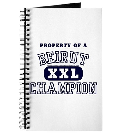 Property of a Beirut Champion Journal