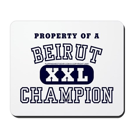Property of a Beirut Champion Mousepad