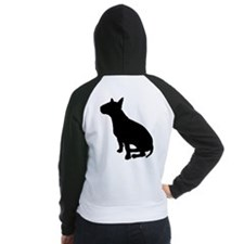 Bull Terrier Dog Breed Women's Raglan Hoodie