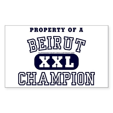 Property of a Beirut Champion Sticker (Rectangular