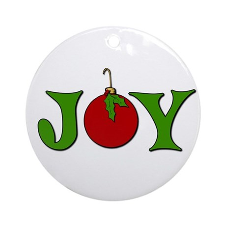 Christmas Joy Ornament (Round)