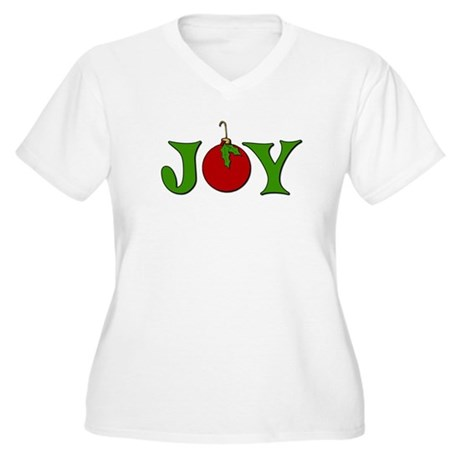 Christmas Joy Women's Plus Size V-Neck T-Shirt