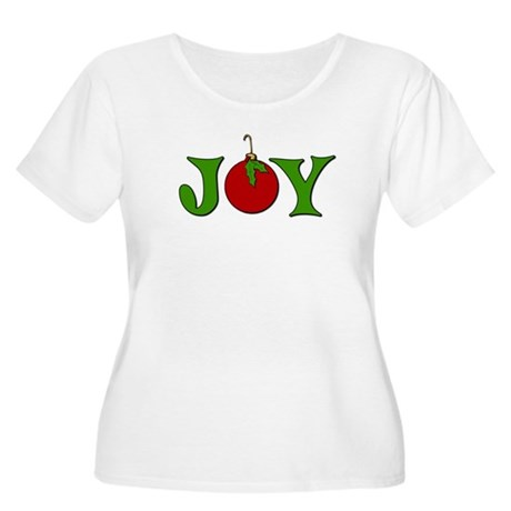 Christmas Joy Women's Plus Size Scoop Neck T-Shirt
