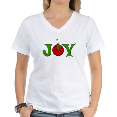 Christmas Joy Women's V-Neck T-Shirt