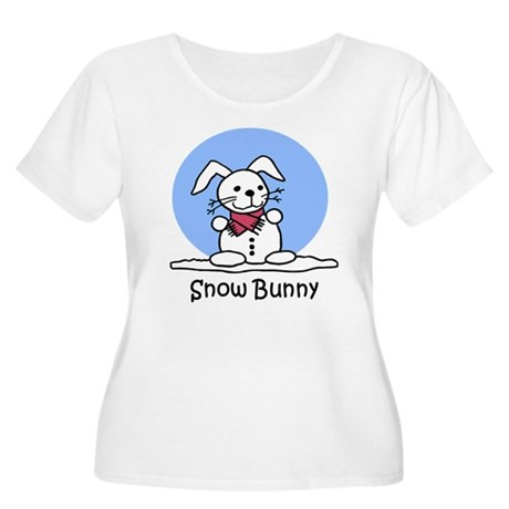 Snow Bunny Women's Plus Size Scoop Neck T-Shirt
