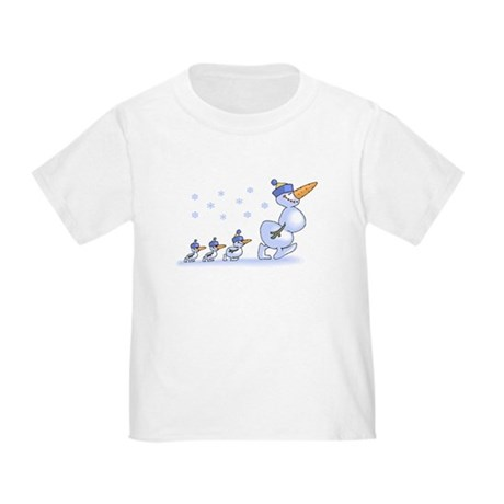 Snowman Family Toddler T-Shirt