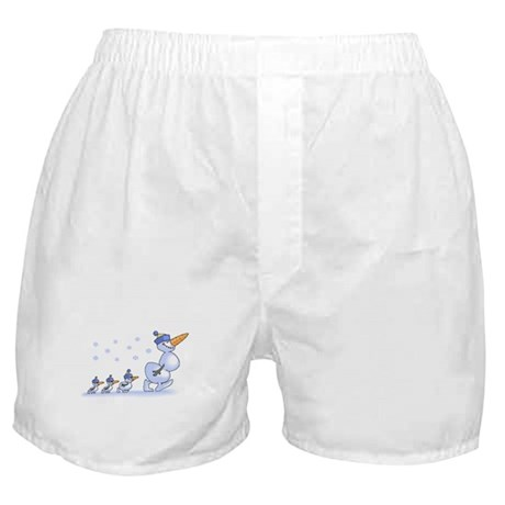 Snowman Family Boxer Shorts