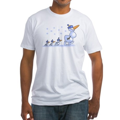 Snowman Family Fitted T-Shirt