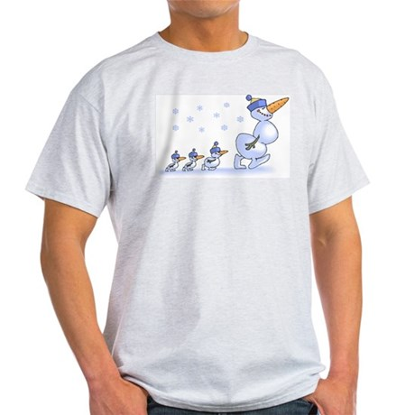 Snowman Family Light T-Shirt