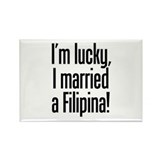 Married a Filipina Rectangle Magnet (100 pack)