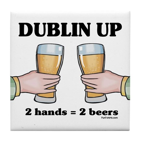 Dublin Up Tile Coaster