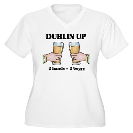 Dublin Up Women's Plus Size V-Neck T-Shirt
