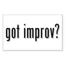 got improv? Rectangle Decal