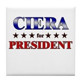 CIERA for president Tile Coaster