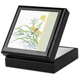 Dragonfly in Rice Field Keepsake Box