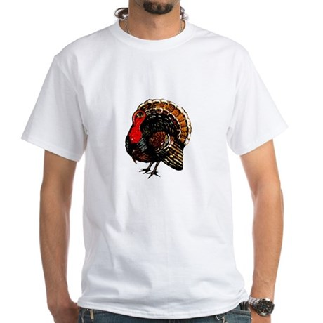 Thanksgiving Turkey White T-Shirt