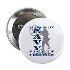 "Son-n-Law Fights Freedom - NAVY 2.25"" Button"