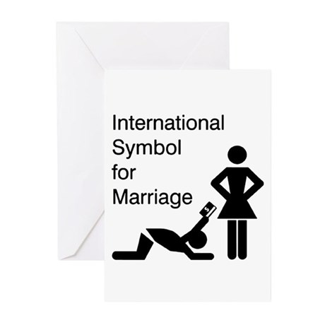 Symbol for Marriage Greeting Cards (Pk of 20)