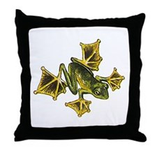 Flying Frog Throw Pillow