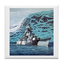 Tirpitz Tile Coaster