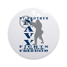 Bro Fights Freedom - NAVY Ornament (Round)