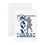 Bro Fights Freedom - NAVY Greeting Cards (Pk of 10