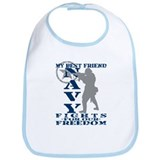 Best Friend Fights Freedom - NAVY Bib