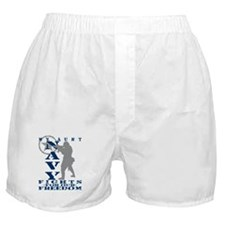 Aunt Fights Freedom - NAVY Boxer Shorts