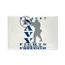 Aunt Fights Freedom - NAVY Rectangle Magnet