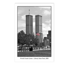 Twin Towers & American flag Postcards (Pkg. of 8)