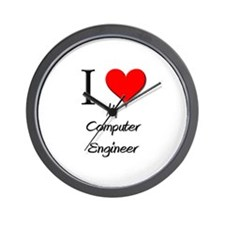 I Love My Computer Engineer Wall Clock