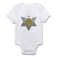 Silver and Gold Jewish Star Infant Bodysuit