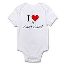I Love My Coast Guard Infant Bodysuit