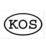 KOS Oval Postcards (Package of 8)