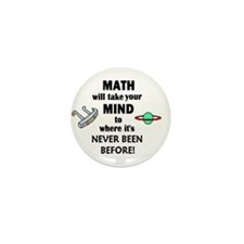 MATH will take your MIND to N Mini Button (100 pac